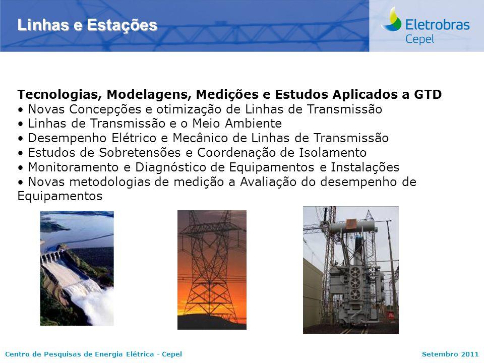 Linhas e Estações Tecnologias, Modelagens, Medições e Estudos Aplicados a GTD. Novas Concepções e otimização de Linhas de Transmissão.