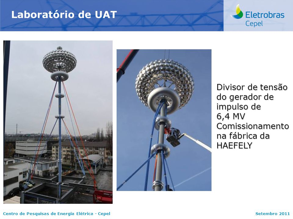 Laboratório de UAT Divisor de tensão do gerador de impulso de 6,4 MV