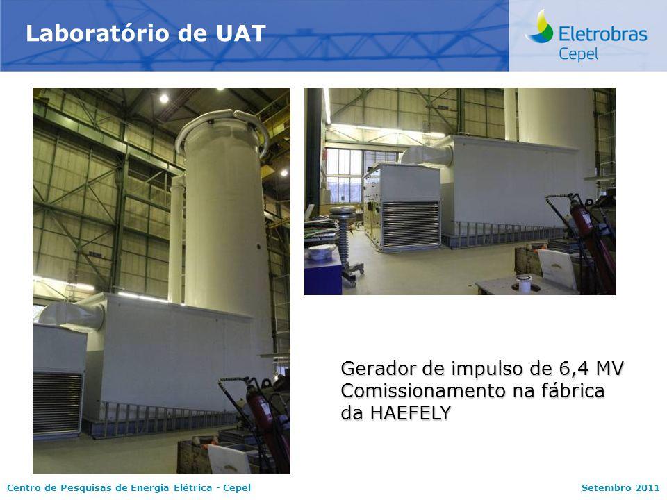 Laboratório de UAT Gerador de impulso de 6,4 MV