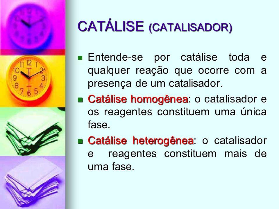 CATÁLISE (CATALISADOR)