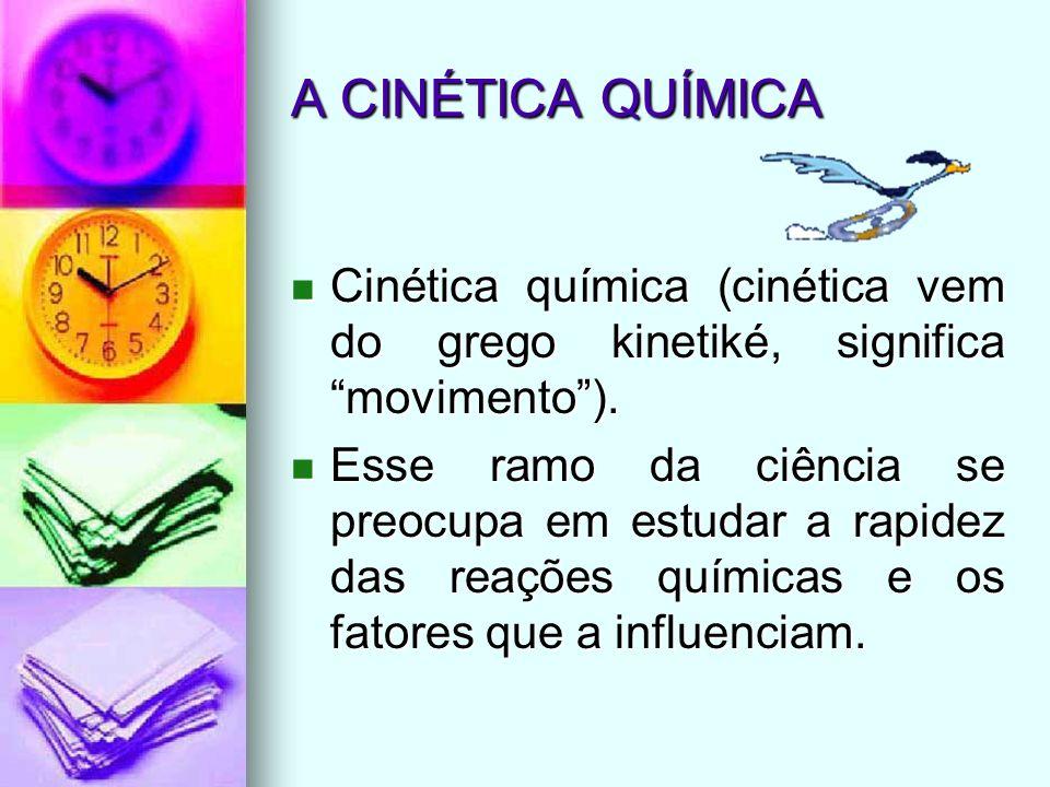 A CINÉTICA QUÍMICACinética química (cinética vem do grego kinetiké, significa movimento ).