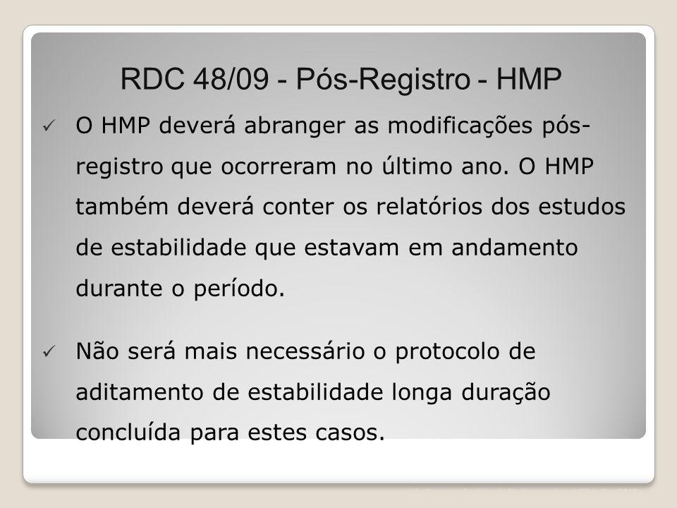RDC 48/09 - Pós-Registro - HMP