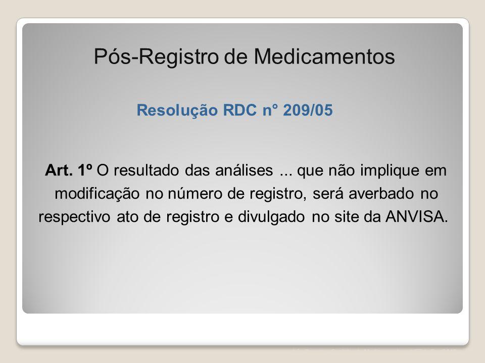 Pós-Registro de Medicamentos