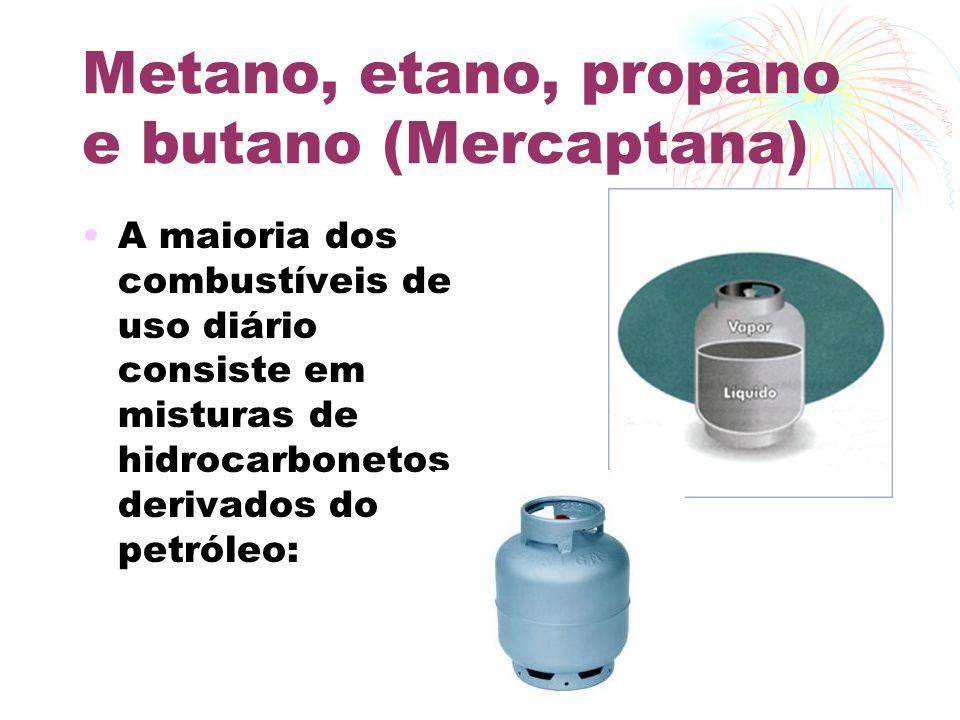 Metano, etano, propano e butano (Mercaptana)