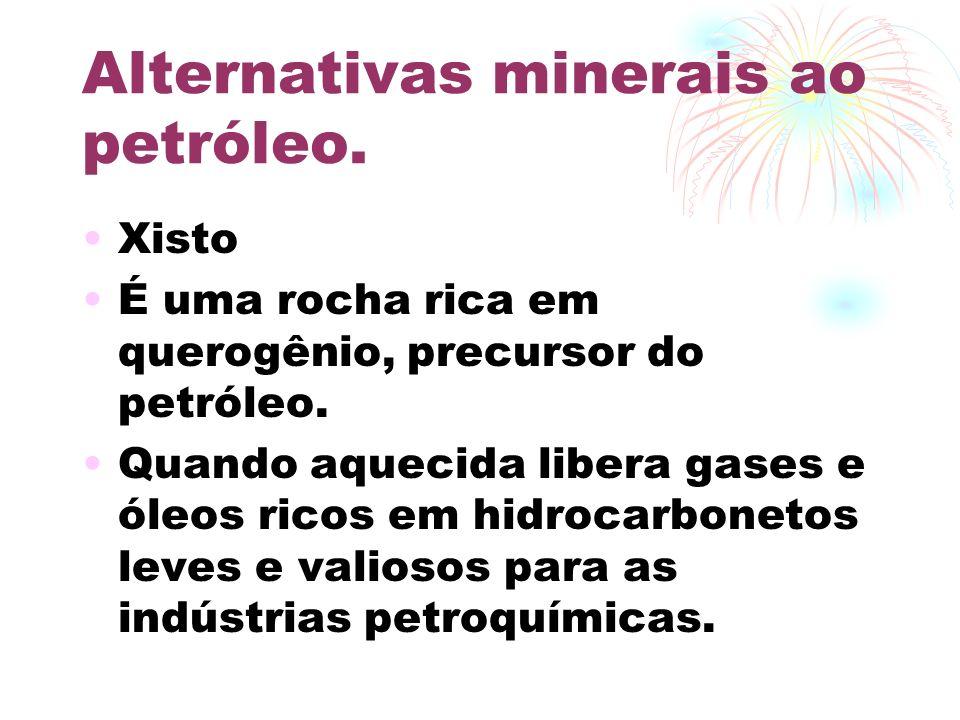 Alternativas minerais ao petróleo.