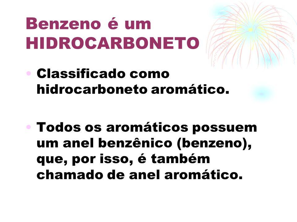 Benzeno é um HIDROCARBONETO