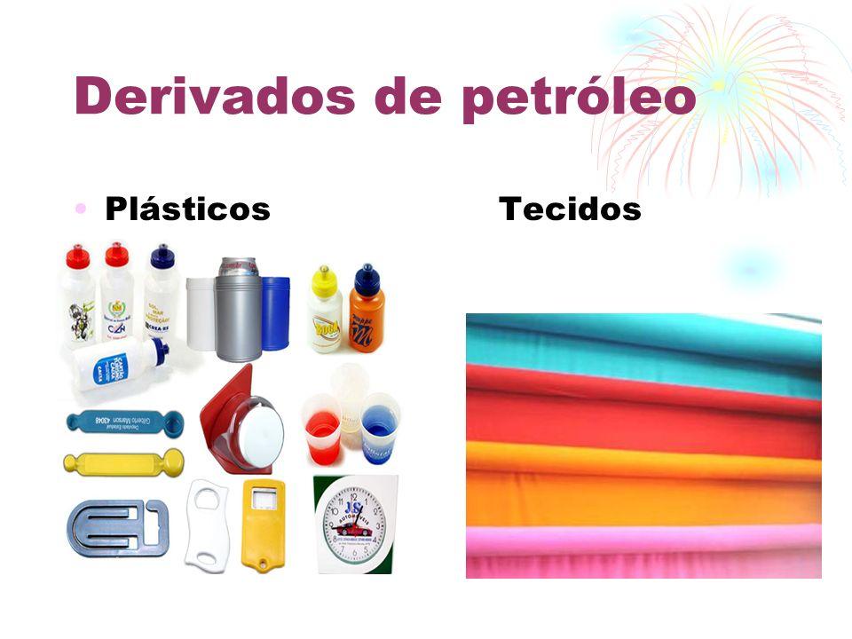 Derivados de petróleo Plásticos Tecidos