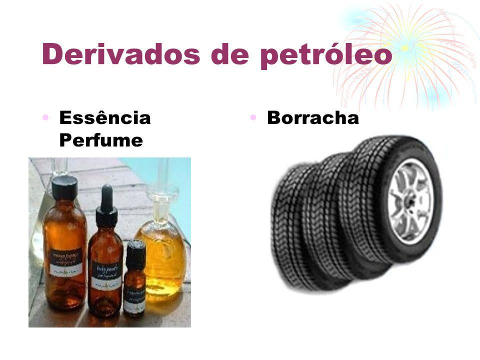 Derivados de petróleo Essência Perfume Borracha