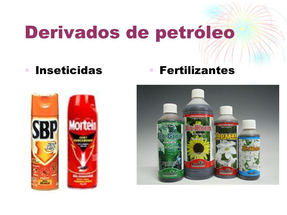 Derivados de petróleo Inseticidas Fertilizantes