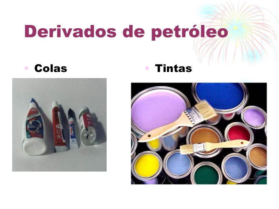 Derivados de petróleo Colas Tintas