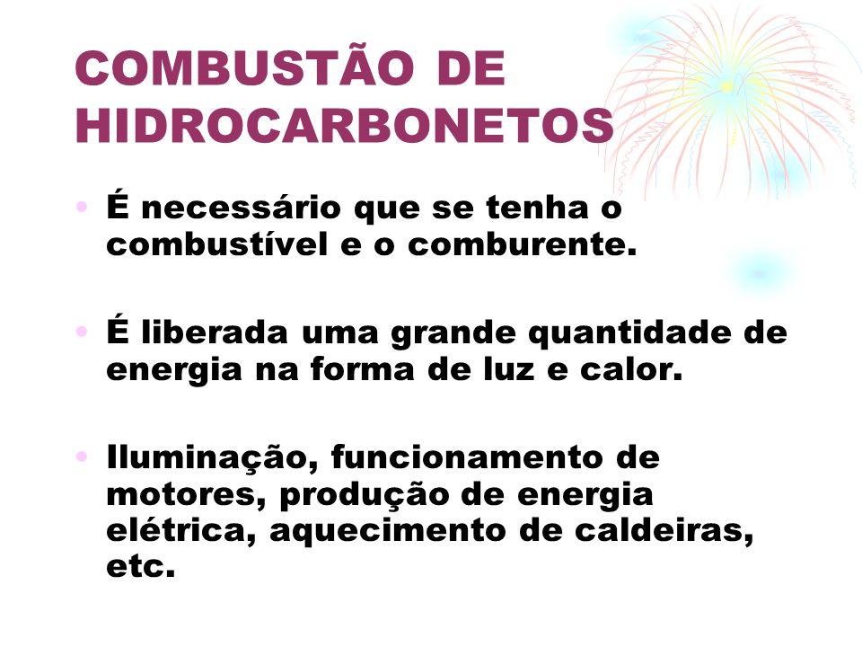 COMBUSTÃO DE HIDROCARBONETOS