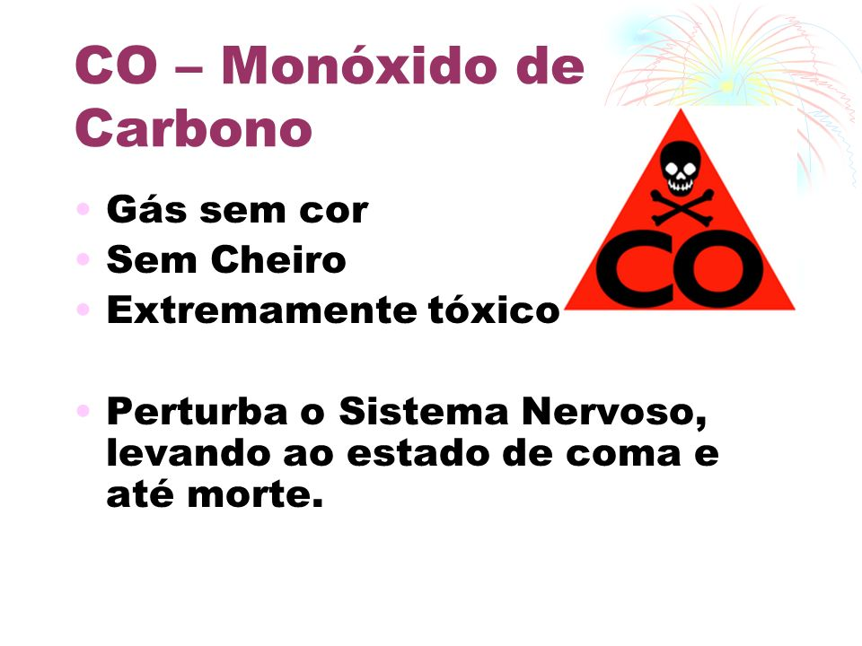 CO – Monóxido de Carbono