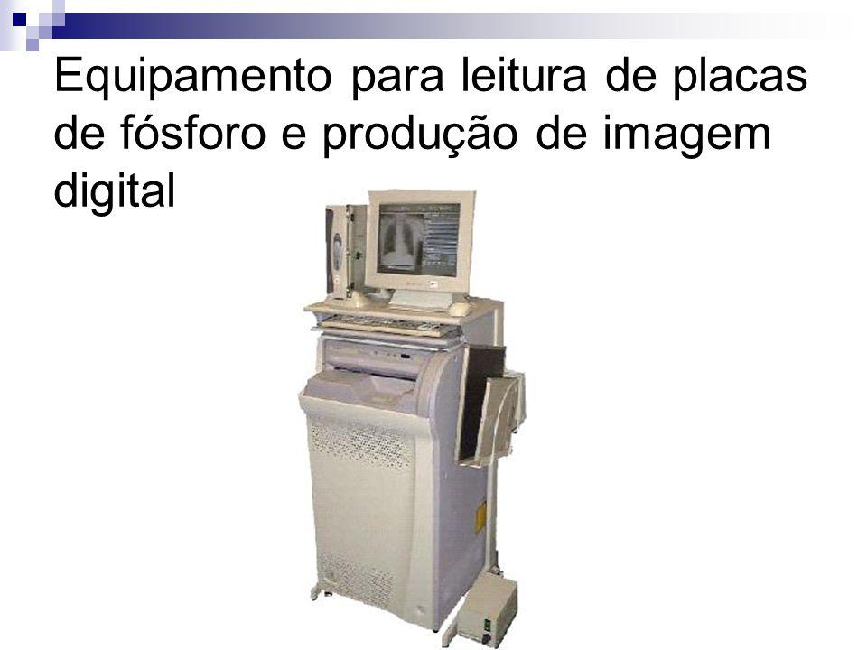 Equipamento para leitura de placas de fósforo e produção de imagem digital