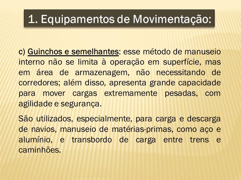 1. Equipamentos de Movimentação: