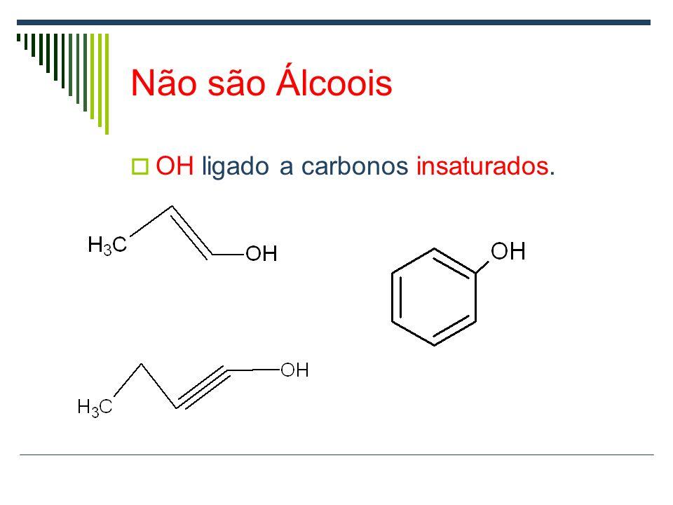 Não são Álcoois OH ligado a carbonos insaturados.