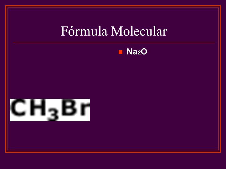 Fórmula Molecular Na2O