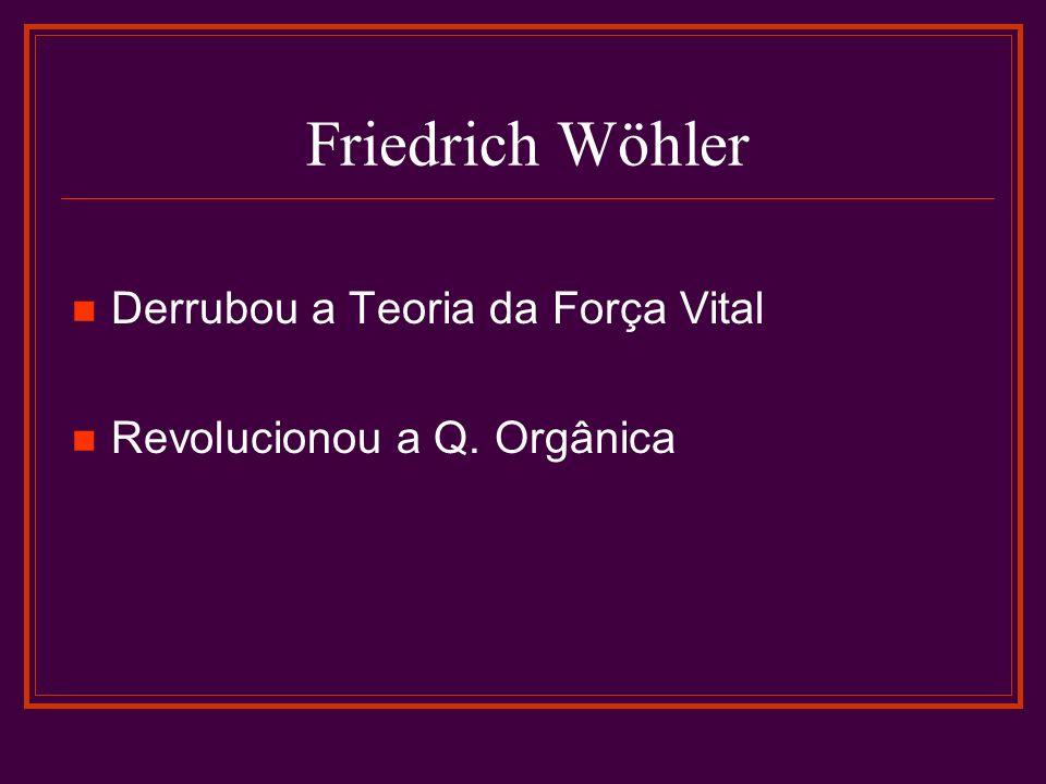 Friedrich Wöhler Derrubou a Teoria da Força Vital