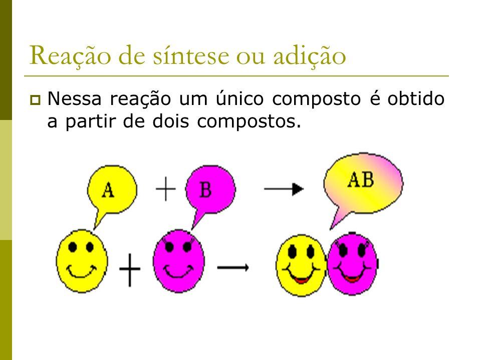 Reação de síntese ou adição