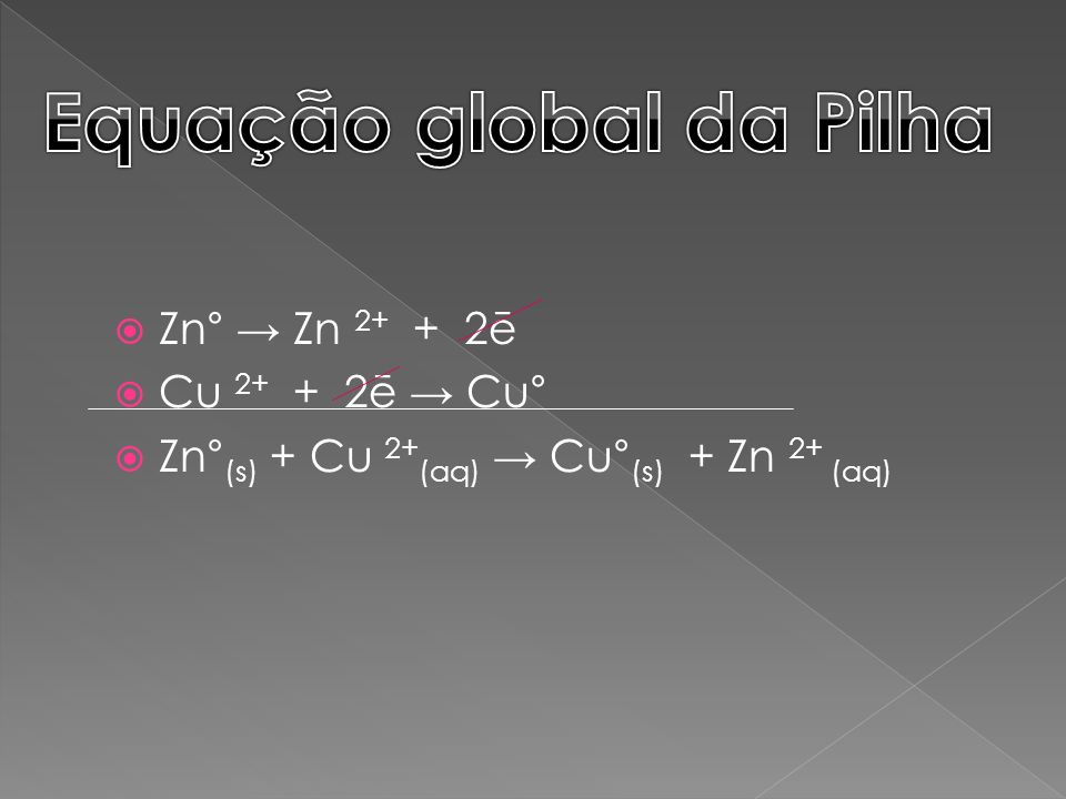 Equação global da Pilha