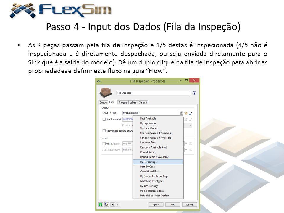 Passo 4 - Input dos Dados (Fila da Inspeção)
