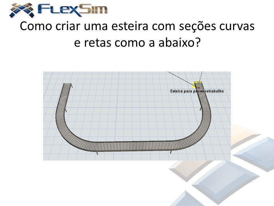 Como criar uma esteira com seções curvas e retas como a abaixo