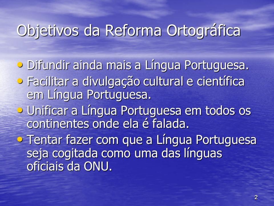 Objetivos da Reforma Ortográfica