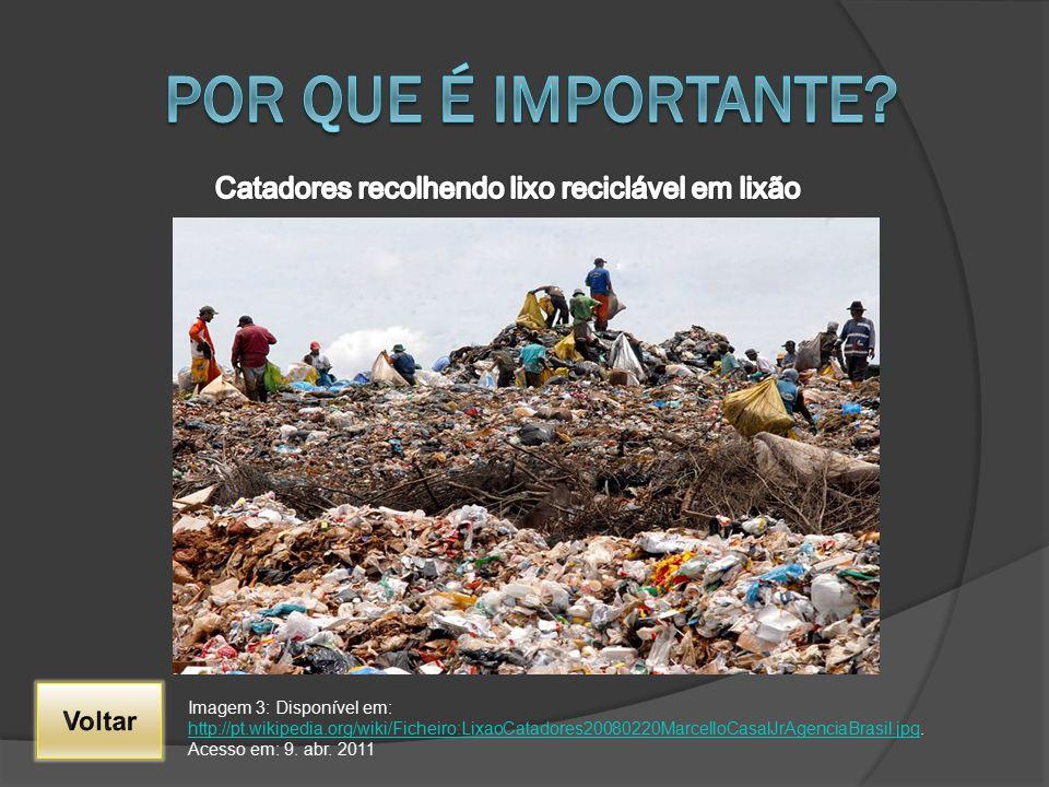 Catadores recolhendo lixo reciclável em lixão
