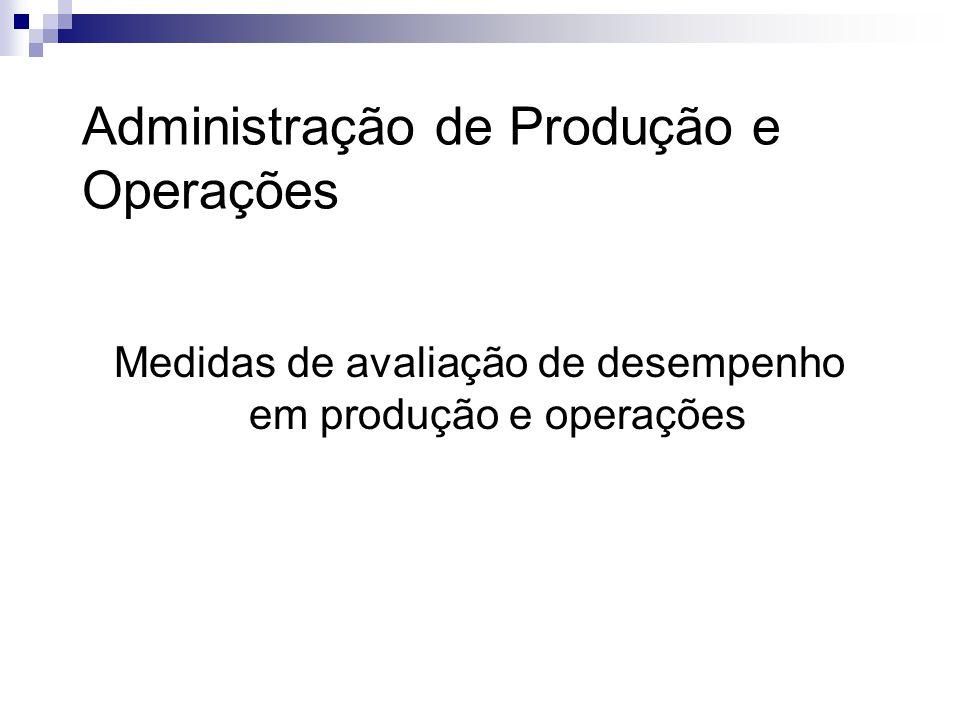 Medidas de avaliação de desempenho em produção e operações