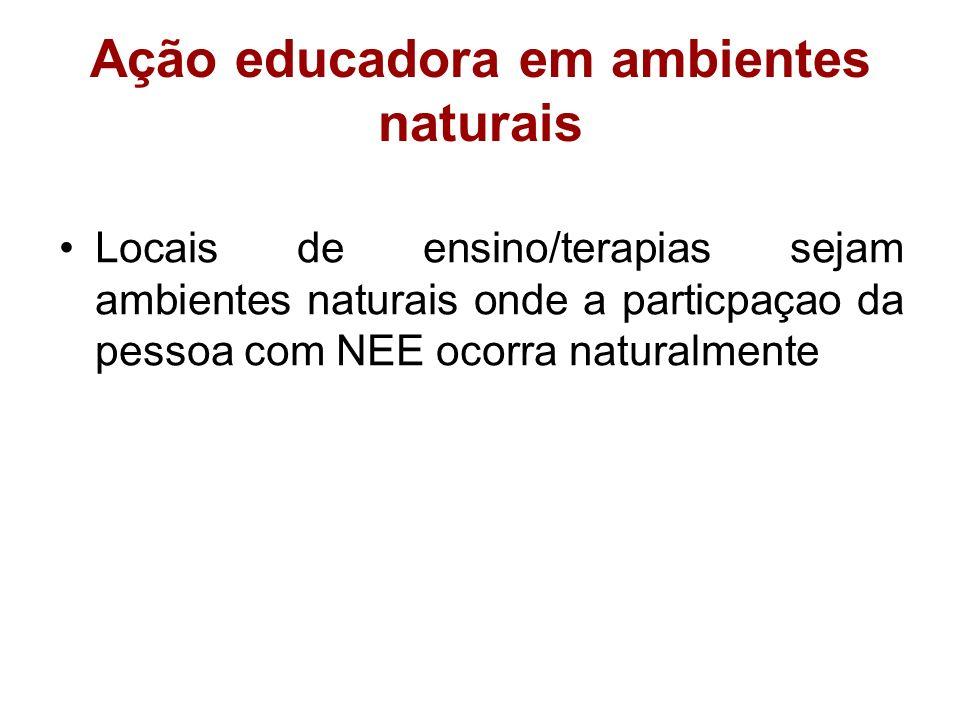 Ação educadora em ambientes naturais