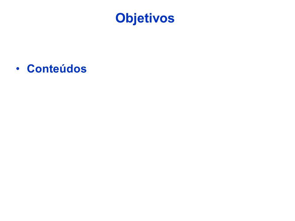 Objetivos Conteúdos