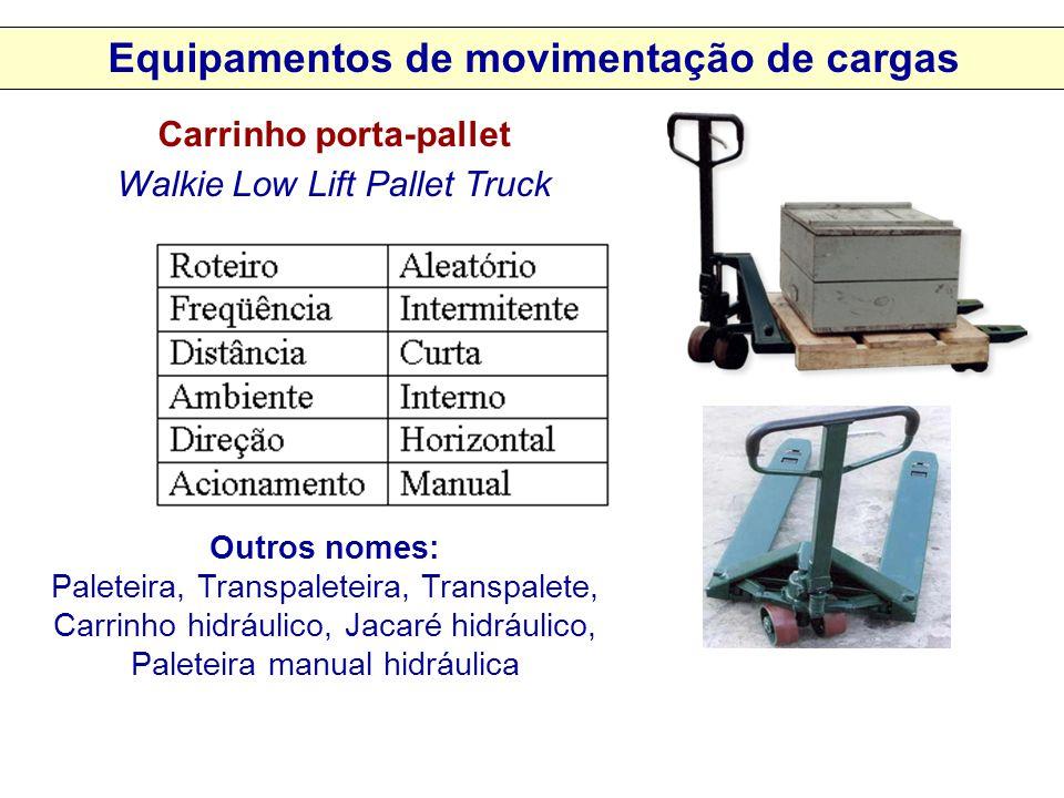 Equipamentos de movimentação de cargas Carrinho porta-pallet