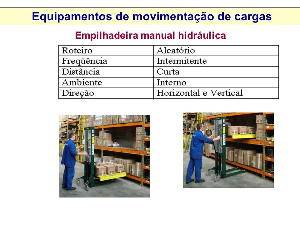 Equipamentos de movimentação de cargas Empilhadeira manual hidráulica