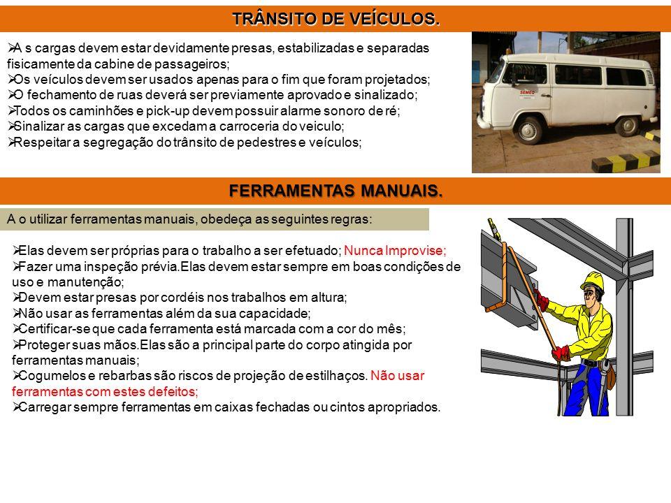 TRÂNSITO DE VEÍCULOS. FERRAMENTAS MANUAIS.