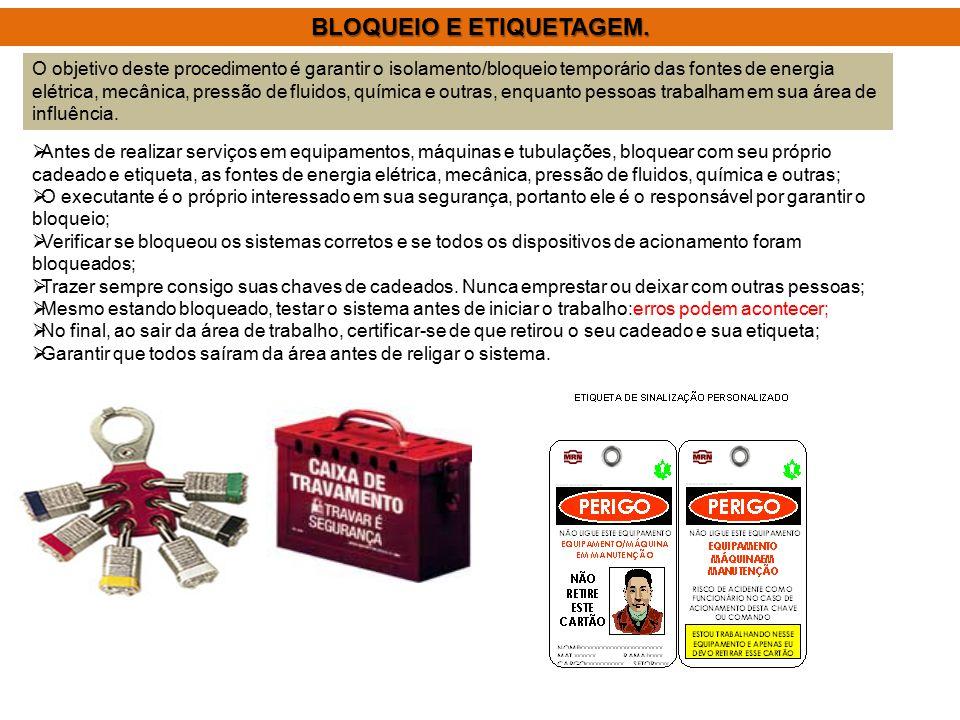 BLOQUEIO E ETIQUETAGEM.