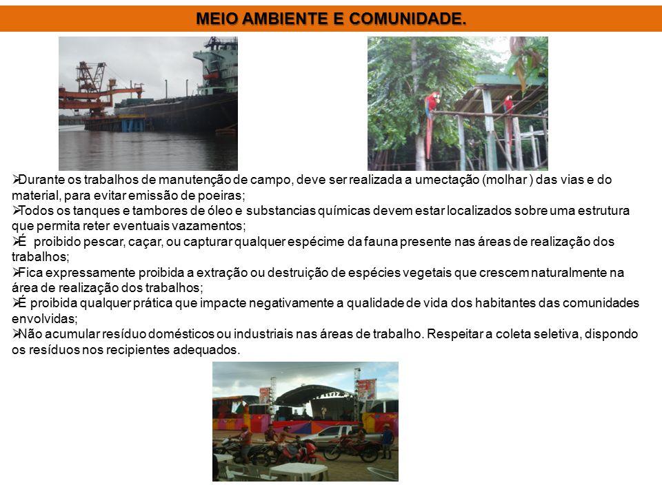 MEIO AMBIENTE E COMUNIDADE.