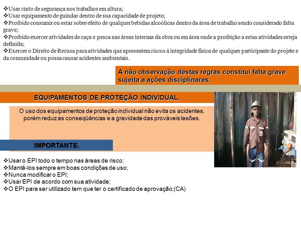 EQUIPAMENTOS DE PROTEÇÃO INDIVIDUAL.