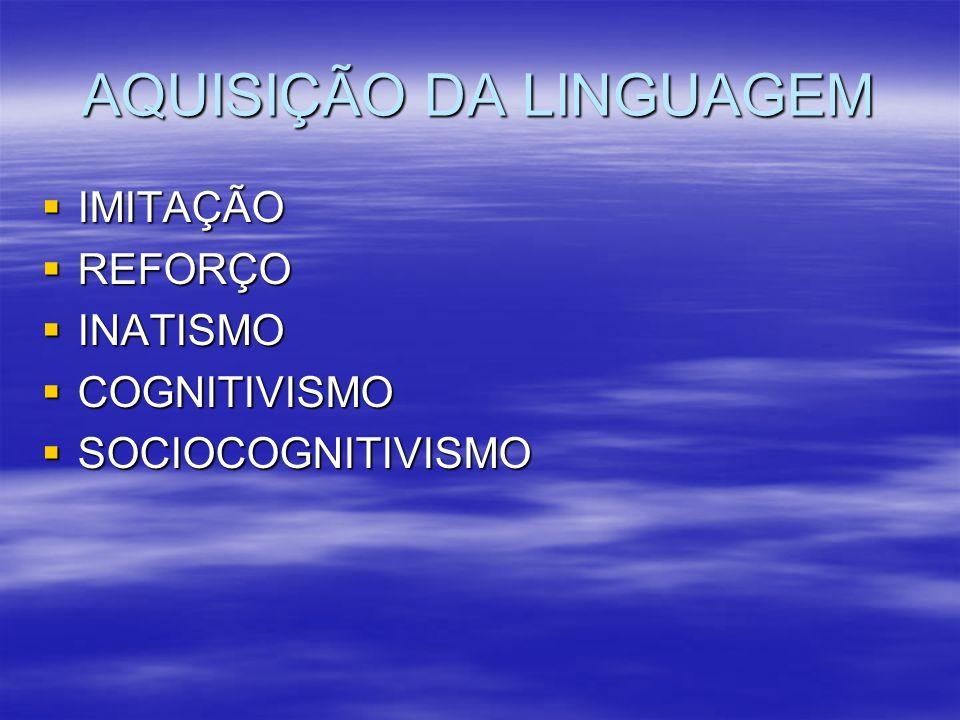 AQUISIÇÃO DA LINGUAGEM