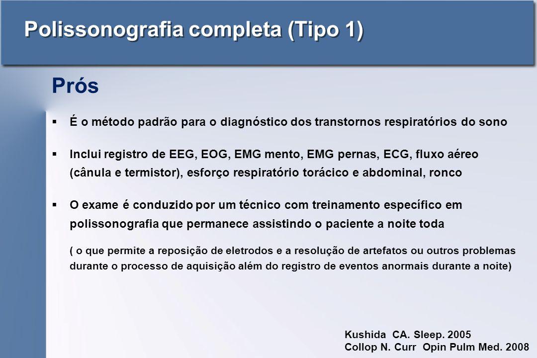 Polissonografia completa (Tipo 1)