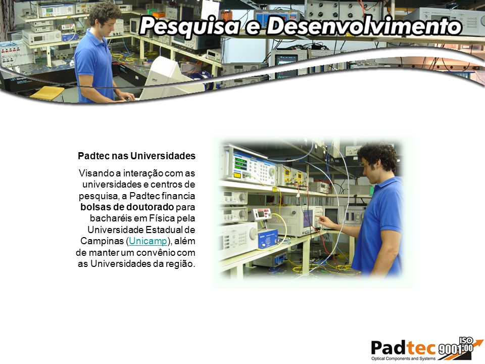 Padtec nas Universidades