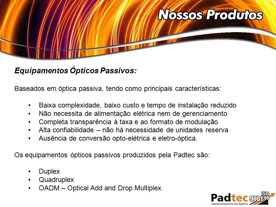 Equipamentos Ópticos Passivos: