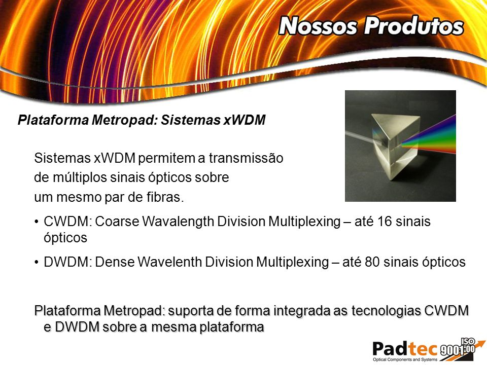 Plataforma Metropad: Sistemas xWDM