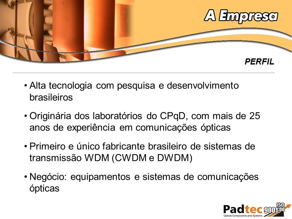 Alta tecnologia com pesquisa e desenvolvimento brasileiros