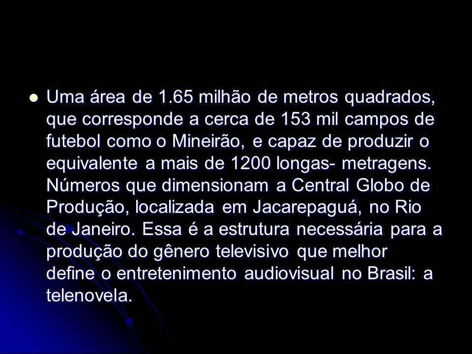 Uma área de 1.65 milhão de metros quadrados, que corresponde a cerca de 153 mil campos de futebol como o Mineirão, e capaz de produzir o equivalente a mais de 1200 longas- metragens.