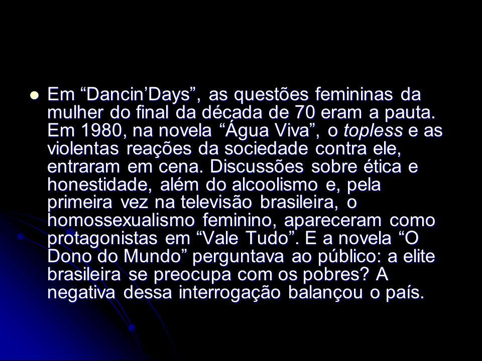 Em Dancin'Days , as questões femininas da mulher do final da década de 70 eram a pauta.