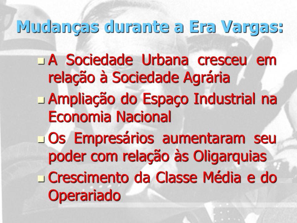 Mudanças durante a Era Vargas: