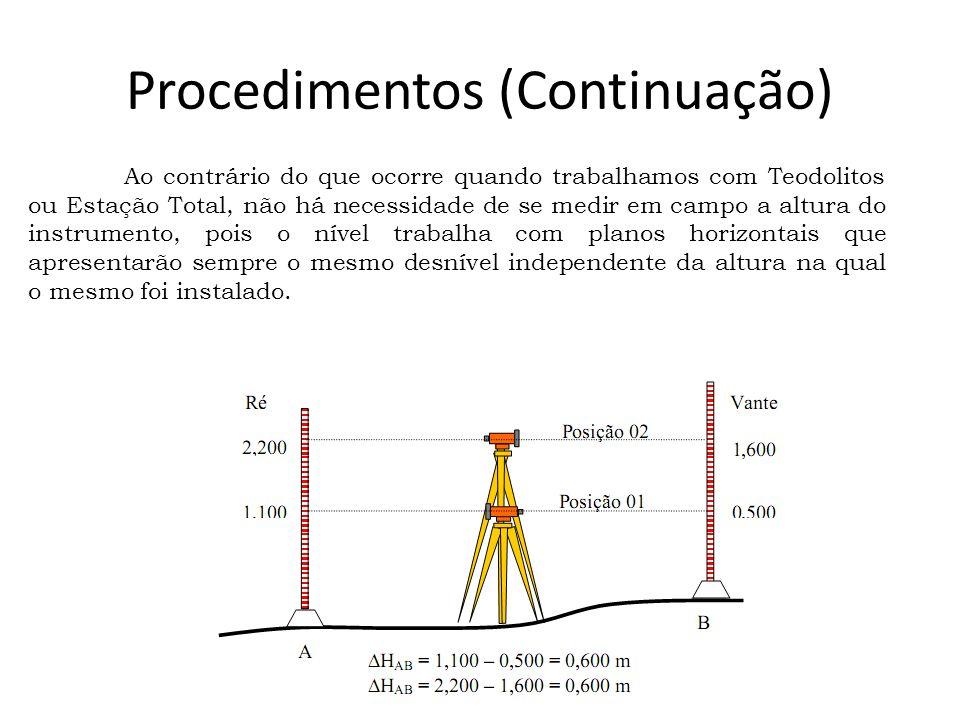 Procedimentos (Continuação)