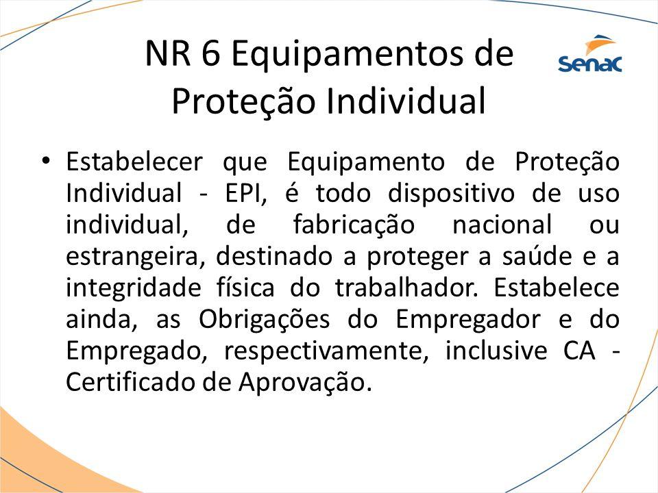 NR 6 Equipamentos de Proteção Individual