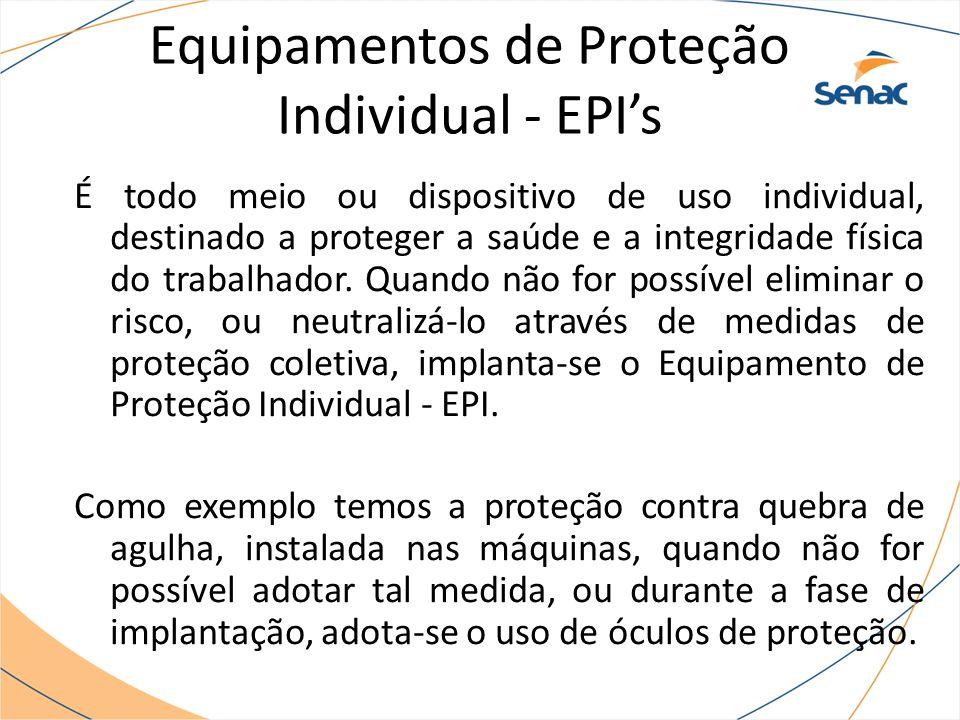 Equipamentos de Proteção Individual - EPI's