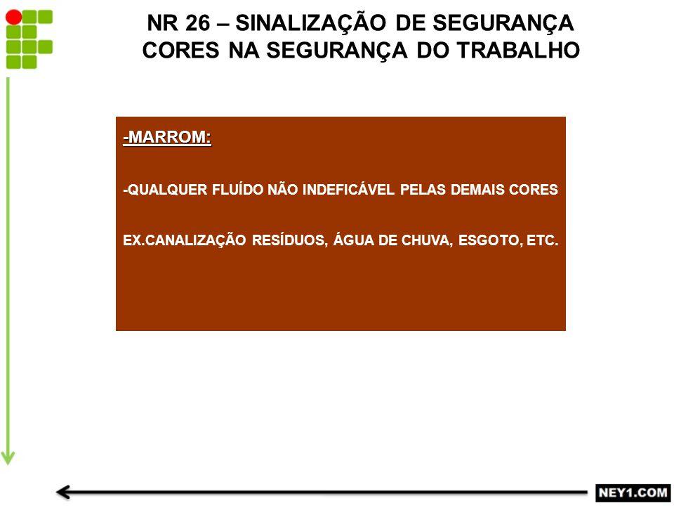 NR 26 – SINALIZAÇÃO DE SEGURANÇA CORES NA SEGURANÇA DO TRABALHO