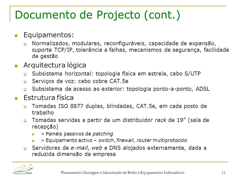 Documento de Projecto (cont.)